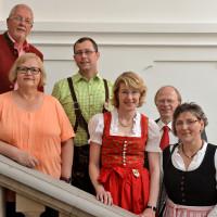 Pascal Lechler, MdB Ulrike Bahr, Helga Ilgenfritz, Catrin Riedl, Ralf Nahm und E. Rasehorn beim Tänzelfest