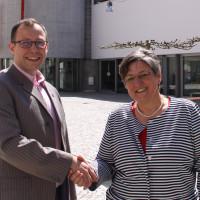 Catrin Riedl und Pascal Lechler (Vorsitzende der bisherigen Ortsvereine)